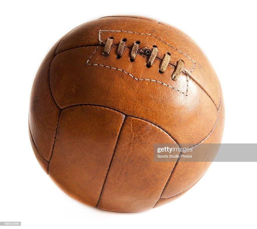 Vintage Soccer Ball. Vintage leather soccer ball with super original patina.