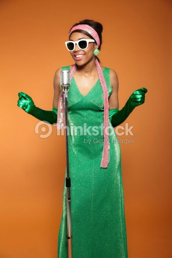 954a0c8396a8 Vintage Soul Funk Woman Singing Black African American Stock Photo ...