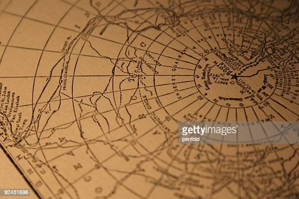 vintage Polo Sur Mapa