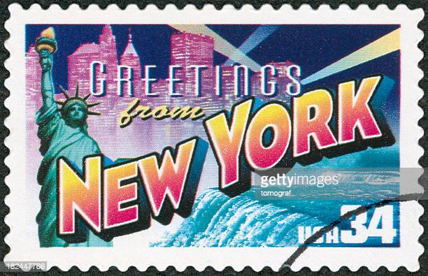 Vintage stamp of New York City