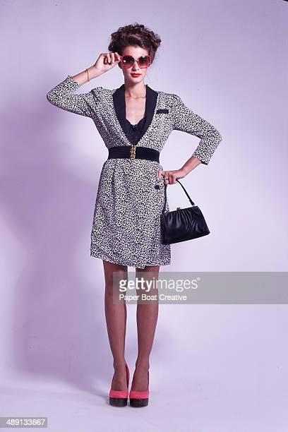 Vintage Style Photo of a fashionable lady