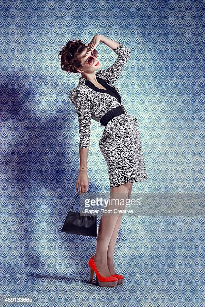 Vintage Style Photo of a lady in designer clothes
