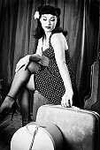 Vintage Style Pin-Up Model