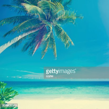 Vintage style summer sea : Stock Photo