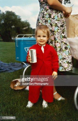 Vintage summer family picnic : Stock Photo