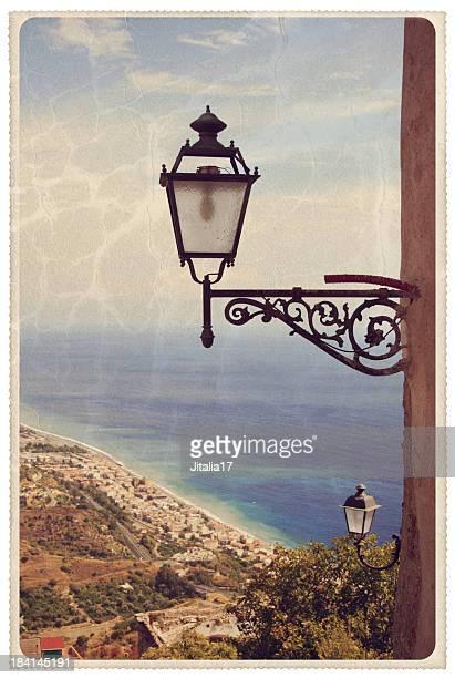 Vintage Taormina auf Sizilien Postkarte
