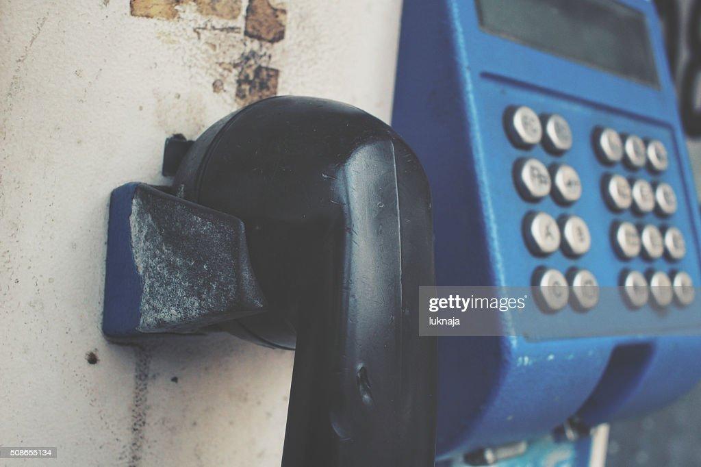 Vintage telephone : Stock Photo