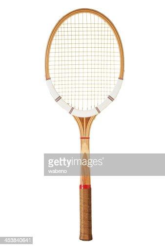 Vintage tennis racket : Stock Photo