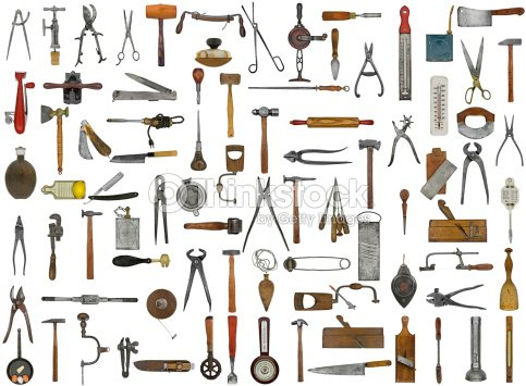 Vintage tools and utensils stock photo thinkstock for Antique kitchen utensils identification