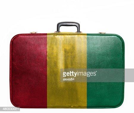 Sac de voyage Vintage avec Drapeau guinéen : Photo