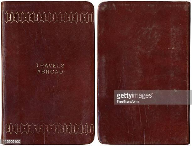 Journal de voyage Vintage sur le devant et dans le dos