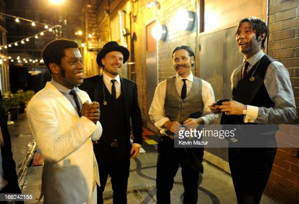 Vintage Trouble backstage at John Varvatos Bowery NYC 5th Anniversary on April 10 2013 in New York City