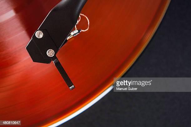Vintage turntable, close up