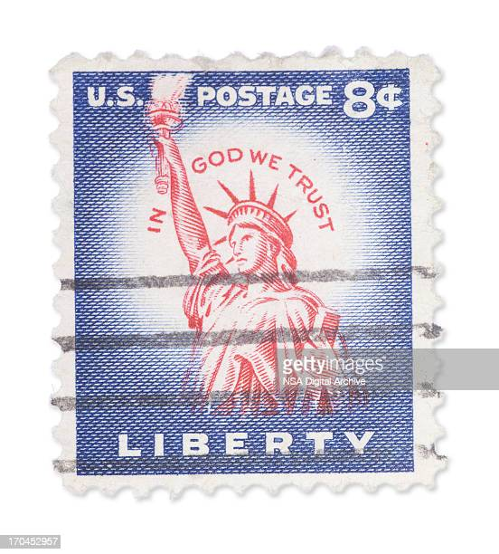 Vintage US stamp - Statue of Liberty
