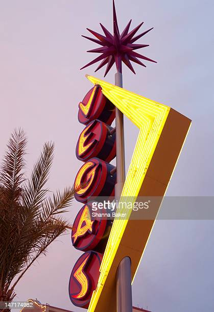 Vintage Vegas sign at dusk