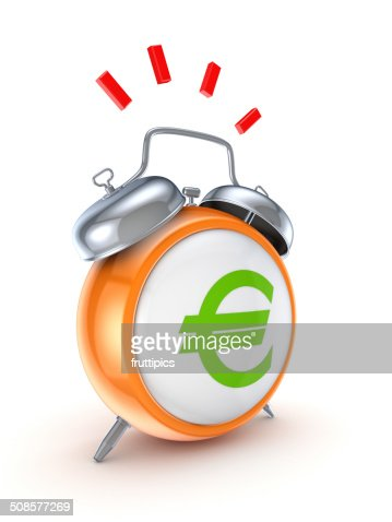 Vintage watch with a green euro sign. : Stock Photo