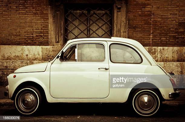 Vintage weiß Fiat 500 in Rom