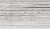 Vintage whitewash painted rustic old wooden horizontal  planks wall  textured background. Faded natural wood board panel structure.