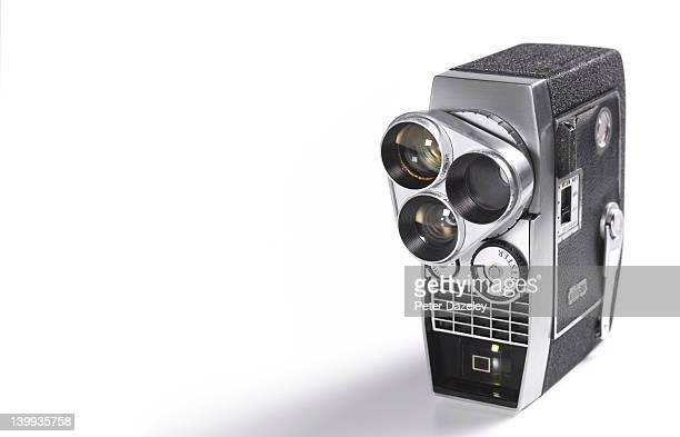 Vintage wind-up movie camera