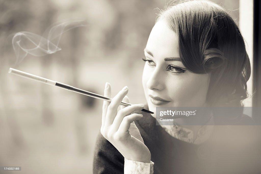 Vintage woman portrait : Stock Photo