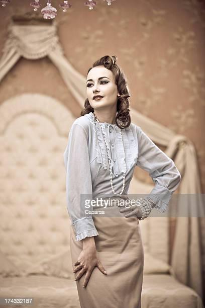 Vintage woman portrait