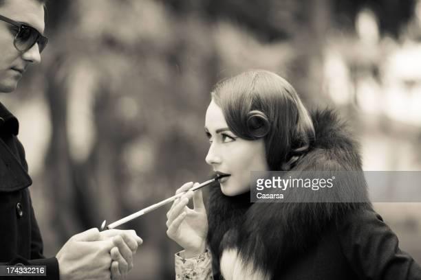 Vintage Retrato de Mulher