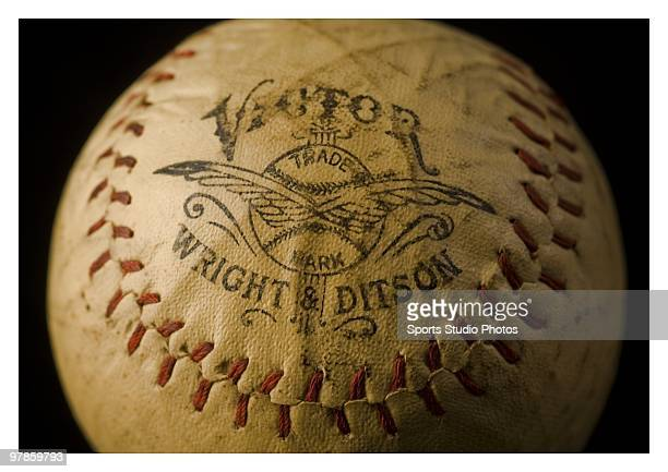 Vintage Wright Ditson baseball photographed in the studio on March 18 2010 in Los Angeles California