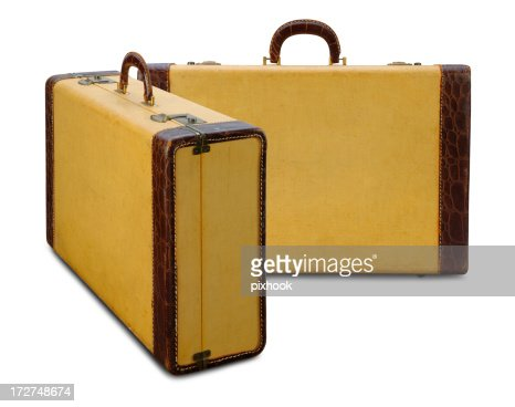 Vintage Yellow Suitcase With Path Stock Photo | Getty Images
