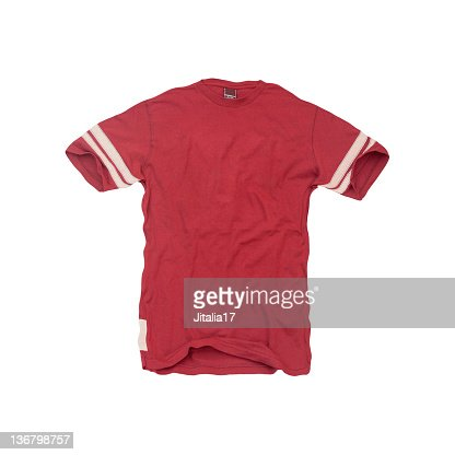 Vintage-Red Football Jersey - Blank