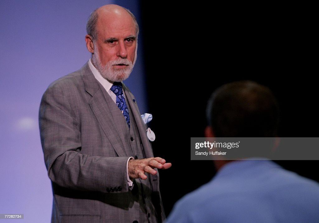 Vinton Cerf, co founder of the internet, speaks at the Webby Connect Summit on October 5, 2007 in Dana Point, California.