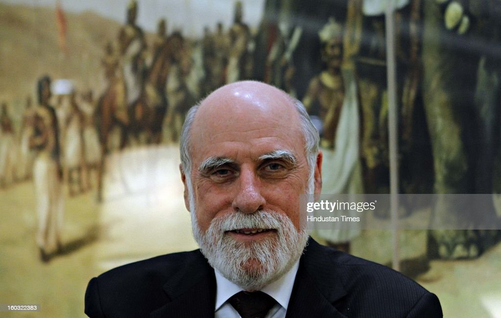 Vinton Gray Cerf, VP and Chief Internet evangelist for Google during an interview on January 29, 2013 in New Delhi, India.