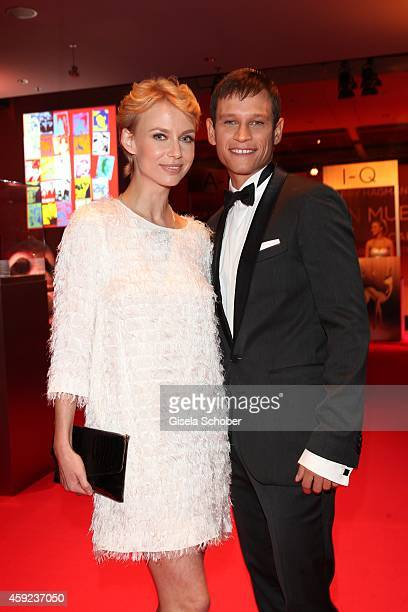 Vinzenz Kiefer and his girlfriend Maria Tokareva arrive at the Bambi Awards 2014 on November 13 2014 in Berlin Germany