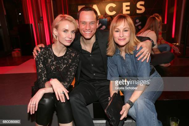 Vinzenz Kiefer and his wife Masha Tokareva and his sister Dorkas Kiefer during the New Faces Award Film at Haus Ungarn on April 27 2017 in Berlin...