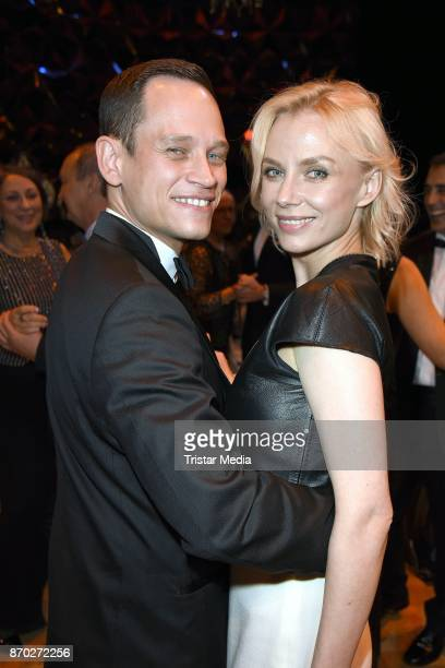 Vinzenz Kiefer and his wife Masha Tokareva attend the Leipzig Opera Ball on November 4 2017 in Leipzig Germany