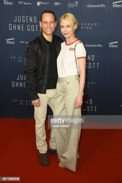 Vinzenz Kiefer and his wife Masha Tokareva attend the premiere of 'Jugend ohne Gott' at Zoo Palast on August 22 2017 in Berlin Germany