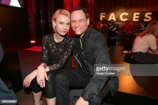 Vinzenz Kiefer and his wife Masha Tokareva during the New Faces Award Film at Haus Ungarn on April 27 2017 in Berlin Germany