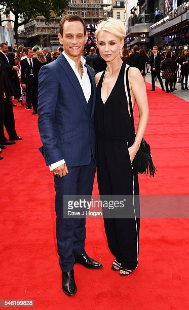 Vinzenz Kiefer and Masha Tokareva arrive for the European premiere of 'Jason Bourne' at Odeon Leicester Square on July 11 2016 in London England