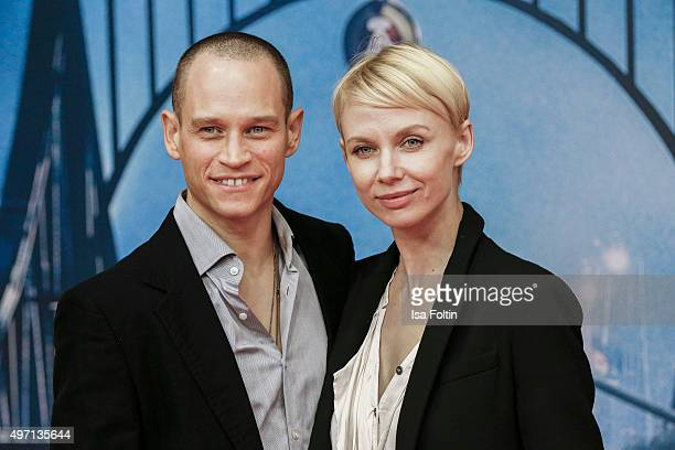 Vinzenz Kiefer and Masha Tokareva attend the 'Bridge of Spies Der Unterhaendler' World Premiere In Berlin on November 13 2015 in Berlin Germany