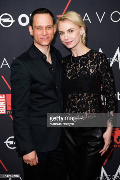 Vinzenz Kiefer and Masha Tokareva attend the New Faces Award Film at Haus Ungarn on April 27 2017 in Berlin Germany