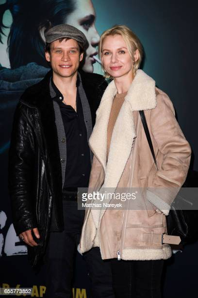 Vinzenz Kiefer and Masha Tokareva attend the premiere of the film 'Tiger Girl' at Zoo Palast on March 20 2017 in Berlin Germany