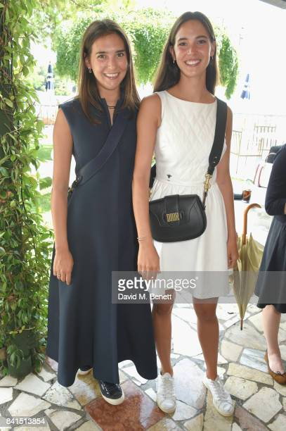 Viola Arrivabene and Vera Arrivabene attend an intimate lunch hosted by Livia Firth Carlo Capasa and Caroline Scheufele to announce Chopard as...