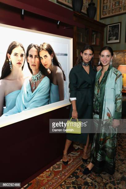 Viola Arrivabene and Vera Arrivabene attend Giampiero Bodino's 'Beauty Is My Favourite Colour' cocktails and dinner evening at Spencer House on...