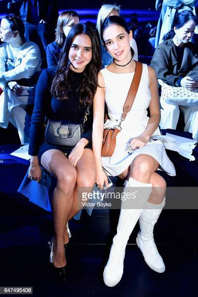 Viola Arrivabene and Vera Arrivabene attend the Christian Dior show as part of the Paris Fashion Week Womenswear Fall/Winter 2017/2018 on March 3...