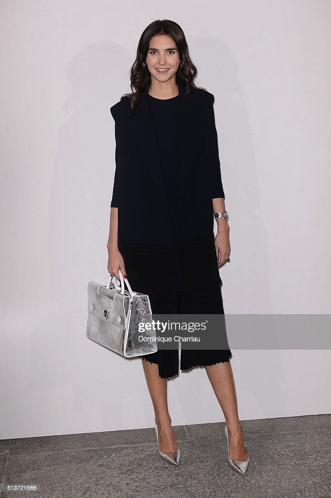 Viola Arrivabene attends the Christian Dior show as part of the Paris Fashion Week Womenswear Fall/Winter 2016/2017 on March 4, 2016 in Paris, France.