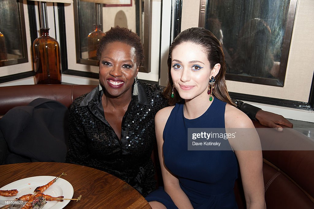 <a gi-track='captionPersonalityLinkClicked' href=/galleries/search?phrase=Viola+Davis&family=editorial&specificpeople=653789 ng-click='$event.stopPropagation()'>Viola Davis</a> and <a gi-track='captionPersonalityLinkClicked' href=/galleries/search?phrase=Emmy+Rossum&family=editorial&specificpeople=202563 ng-click='$event.stopPropagation()'>Emmy Rossum</a> attend The Cinema Society And Dior Beauty Presents A Screening Of 'Beautiful Creatures' After Party at Cole's Greenwich Village on February 11, 2013 in New York City.