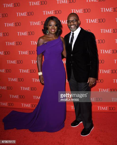 Viola Davis and Julius Tennon attend the 2017 Time 100 Gala at Jazz at Lincoln Center on April 25 2017 in New York City / AFP PHOTO / ANGELA WEISS