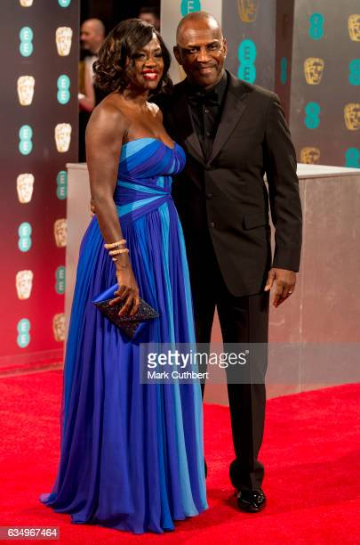 Viola Davis and Julius Tennon attend the 70th EE British Academy Film Awards at Royal Albert Hall on February 12 2017 in London England