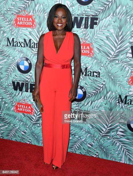 Viola Davis arrives at the 10th Annual Women In Film PreOscar Cocktail Party at Nightingale Plaza on February 24 2017 in Los Angeles California