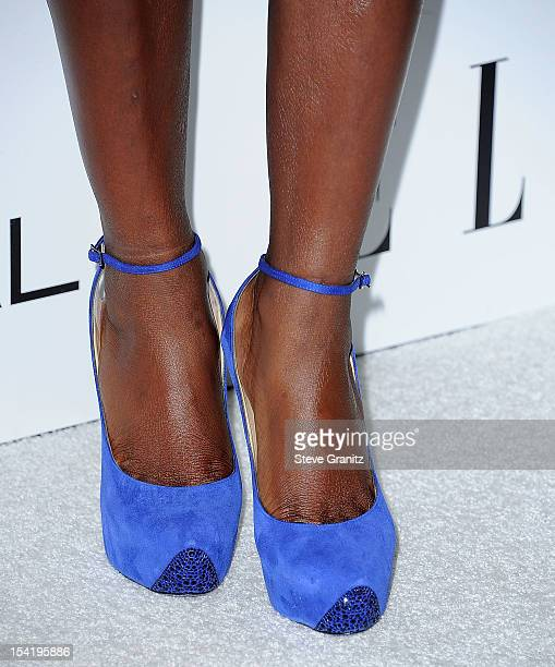 Viola Davis arrives at the 19th Annual ELLE Women In Hollywood Celebration at Four Seasons Hotel Los Angeles at Beverly Hills on October 15 2012 in...