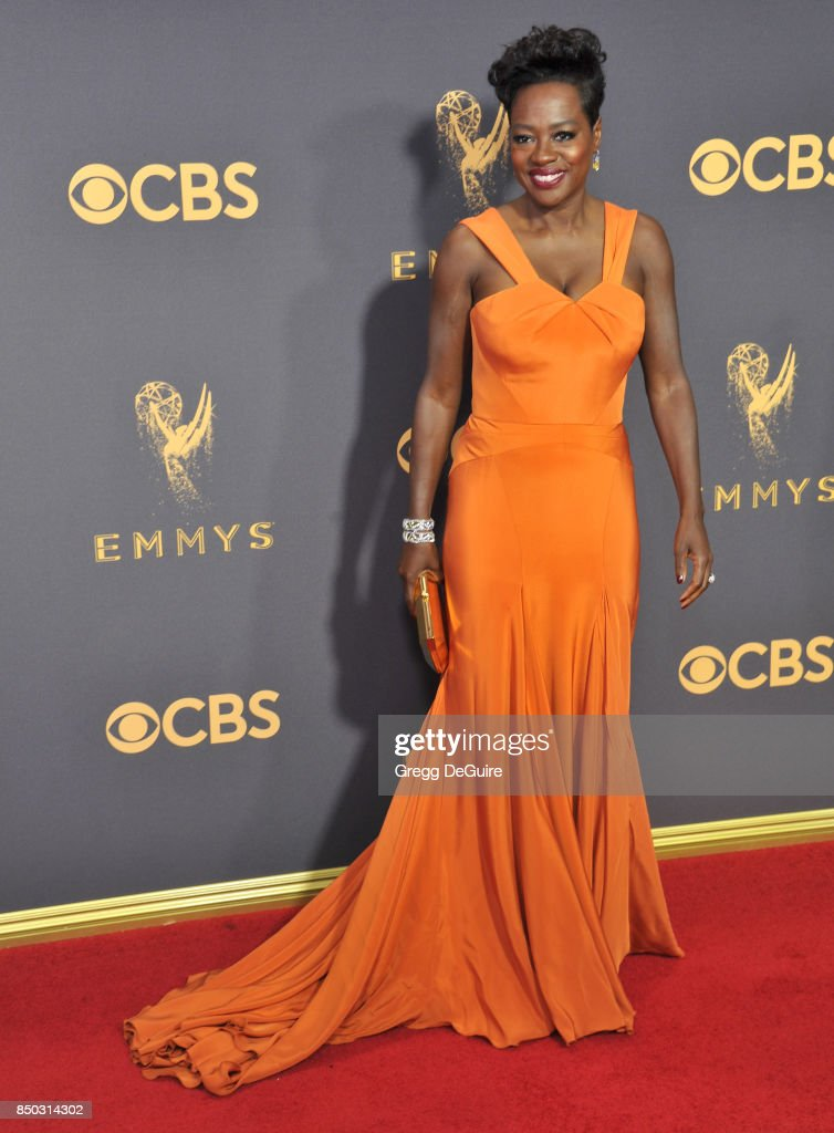 Viola Davis arrives at the 69th Annual Primetime Emmy Awards at Microsoft Theater on September 17, 2017 in Los Angeles, California.